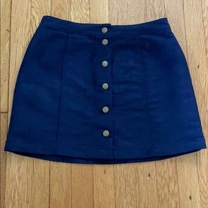 Old Navy Faux Suede Mini Skirt